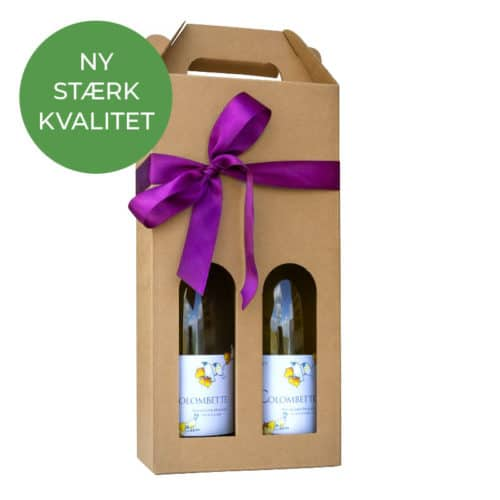 Vinkarton til 2 flasker i natur a 75 cl.