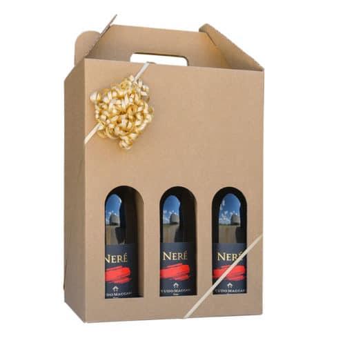 Vinkarton til 6 flasker a 75 cl. i natur