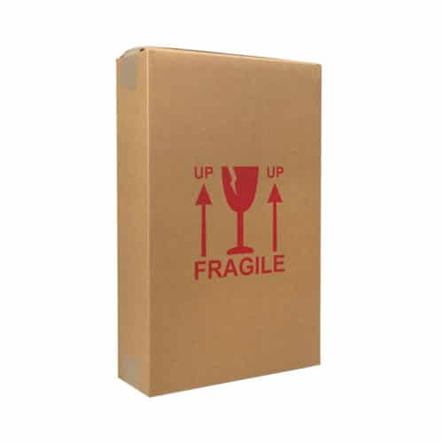 Forsendelseskasse til 3 flasker vin