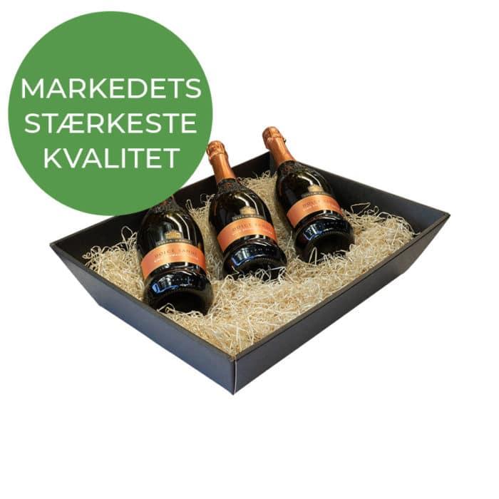 Stor gavekurv / gavebakke i sort - Markedets stærkeste kvalitet