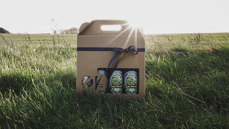 Ølkarton til 4 flasker - 50 cl. i natur - Tilbud