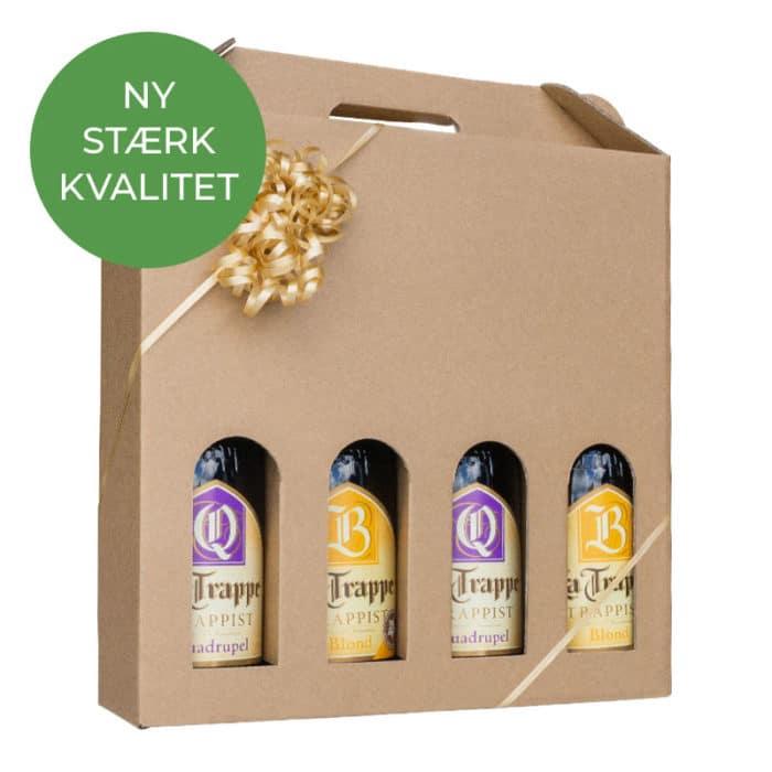 Vinæske til 4 flasker i natur
