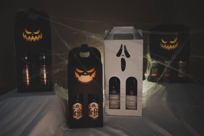 Halloween grafik tryk på vinkarton og ølkartoner