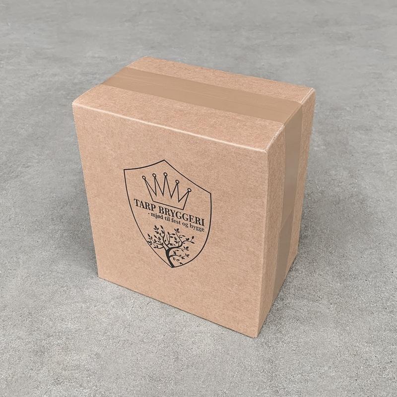 Specialløsning - Kasse med Tarp Bryggeri logotryk